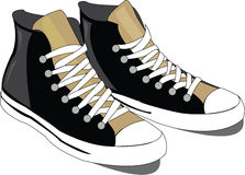 High Top Sneakers Royalty Free Stock Photos