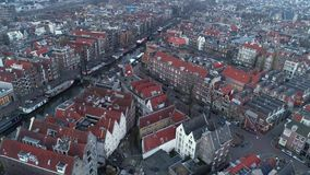 High top view european city stock video footage