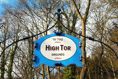 High Tor Sign At Matlock Bath Stock Photo