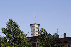 High tower in milan Royalty Free Stock Photography