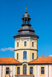 High Tower of the palace in Nesvizh on a sunny day Royalty Free Stock Photography