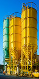 High towers on chemical plant Stock Photos