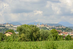 High town skyline, Bergamo Stock Photography