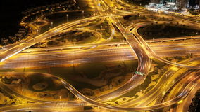 High traffic crossroads in dubai city 4k time lapse stock video