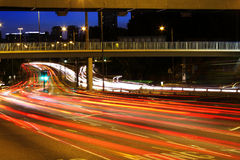 High traffic street in a rush-hour at night Royalty Free Stock Photography