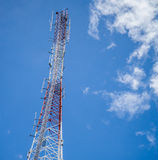 High transmitter tower Stock Photo