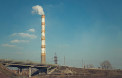 High trumpet blast furnace. Metallurgical plant Royalty Free Stock Images