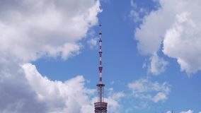 High TV tower on sky background.  stock footage