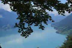 High up the mountain. Overlooking the BrienzerSee in Switzerland, Berner Oberland, Brienz, Brienzerothorn Stock Photography
