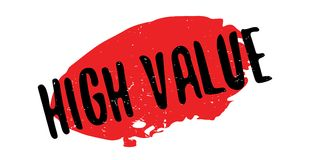 High Value rubber stamp Stock Photo