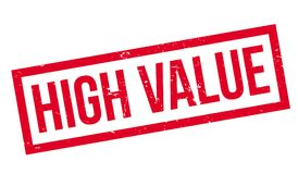 High Value rubber stamp Royalty Free Stock Photos