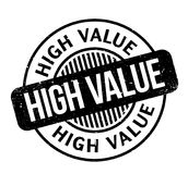 High Value rubber stamp Royalty Free Stock Photo