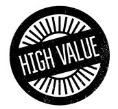High Value rubber stamp Stock Image