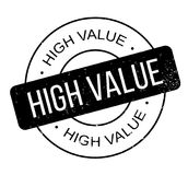 High Value rubber stamp Royalty Free Stock Images