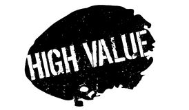 High Value rubber stamp Royalty Free Stock Image