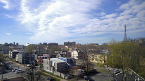 High Vantage North End Halifax. A shot from high up overseeing North End Halifax NS royalty free stock photos