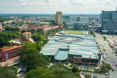 High view of the ancient Malaysian town in Malacca Royalty Free Stock Photo