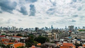 High view of Bangkok city with passing cloud at noon. Timelapse high view of Bangkok city with passing cloud at noon stock footage