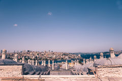 High view of bosphorous sea and Istanbul city Stock Photos