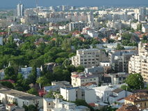 High view of Bucharest dusk cityscape Stock Images