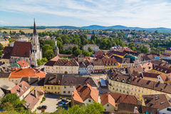 High View of Buildings in Melk Royalty Free Stock Photos
