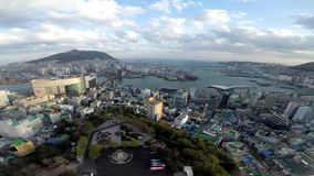 High View of Busan City from Tower stock footage