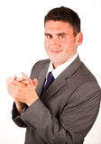 High view of businessman clapping Royalty Free Stock Photo