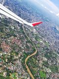 High  view. Chiangmai from high angle Royalty Free Stock Photography