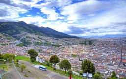 High view of the city of Quito Royalty Free Stock Photography