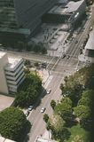 High View of City Street royalty free stock photo