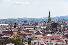 High View Of Cluj Napoca City. In Romania Royalty Free Stock Photos