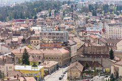 High View Of Cluj Napoca City Stock Photo