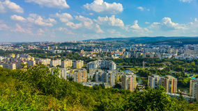High View Of Cluj Napoca City In Romania Royalty Free Stock Photos