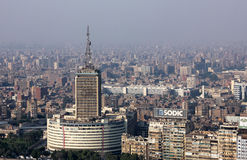 High view of crowded cairo in egypt in africa Royalty Free Stock Photos
