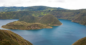 High view of the Cuicocha lake Royalty Free Stock Photos