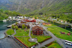 Colourful High View of  Flam, Norway  Royalty Free Stock Photography