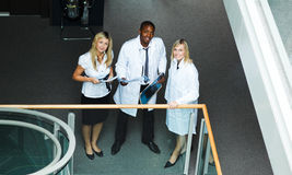 High view of a group of doctors Royalty Free Stock Photo