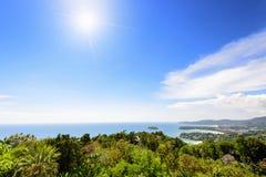High view Hat Kata Karon in Phuket island Stock Photography