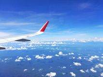 High  view. High View from airplane window Royalty Free Stock Images