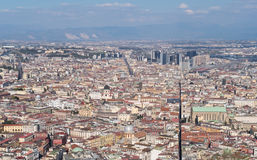 High view from the historic center of Naples Royalty Free Stock Photos