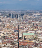High view from the historic center of Naples Stock Photography