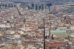 High view from the historic center of Naples Royalty Free Stock Image