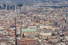High view from the historic center of Naples Royalty Free Stock Images
