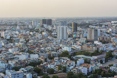 High view in Ho Chi Minh city Stock Image