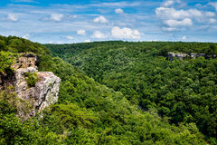High view of Little River Canyon Federal Reserve. In northern Alabama stock photography