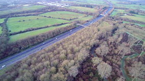 High view of a Motorway stock footage