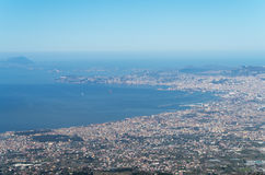 High view of Naples, Italy Stock Images
