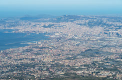 High view of Naples, Italy Stock Photography