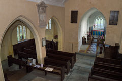 High view Nave of Church of The Blessed Virgin Mary in Somerset Stock Photography