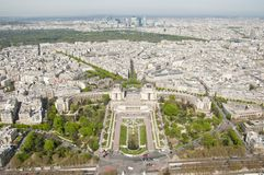 High view of Paris from the Eiffel Tower Stock Photos